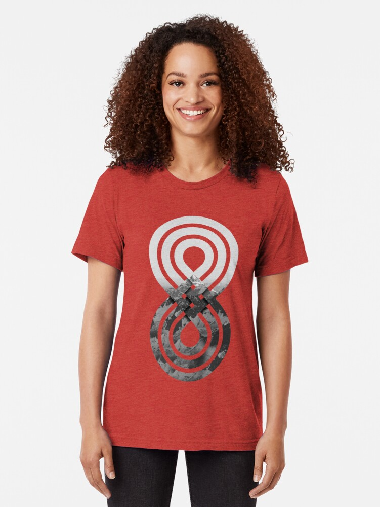 Alternate view of Nature's knot Tri-blend T-Shirt