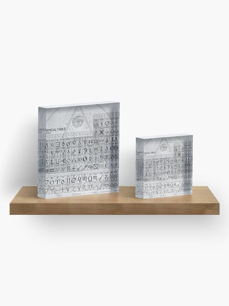 Alternative Ansicht von Die alchemistische Tabelle der Symbole Acrylblock
