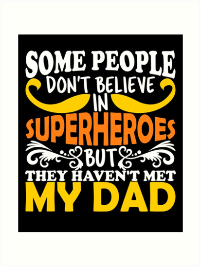 Fathers Day Superhero Dad Birthday Daughter Son Tshirt Gifts