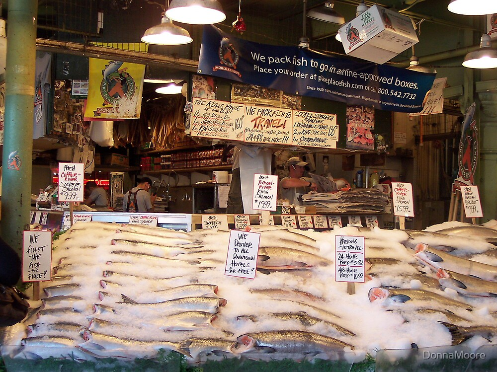 """""""Pike Place Fish Market"""" by DonnaMoore"""