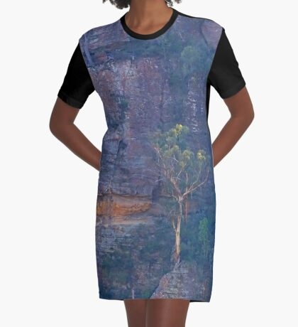 Trees on a cliff Graphic T-Shirt Dress