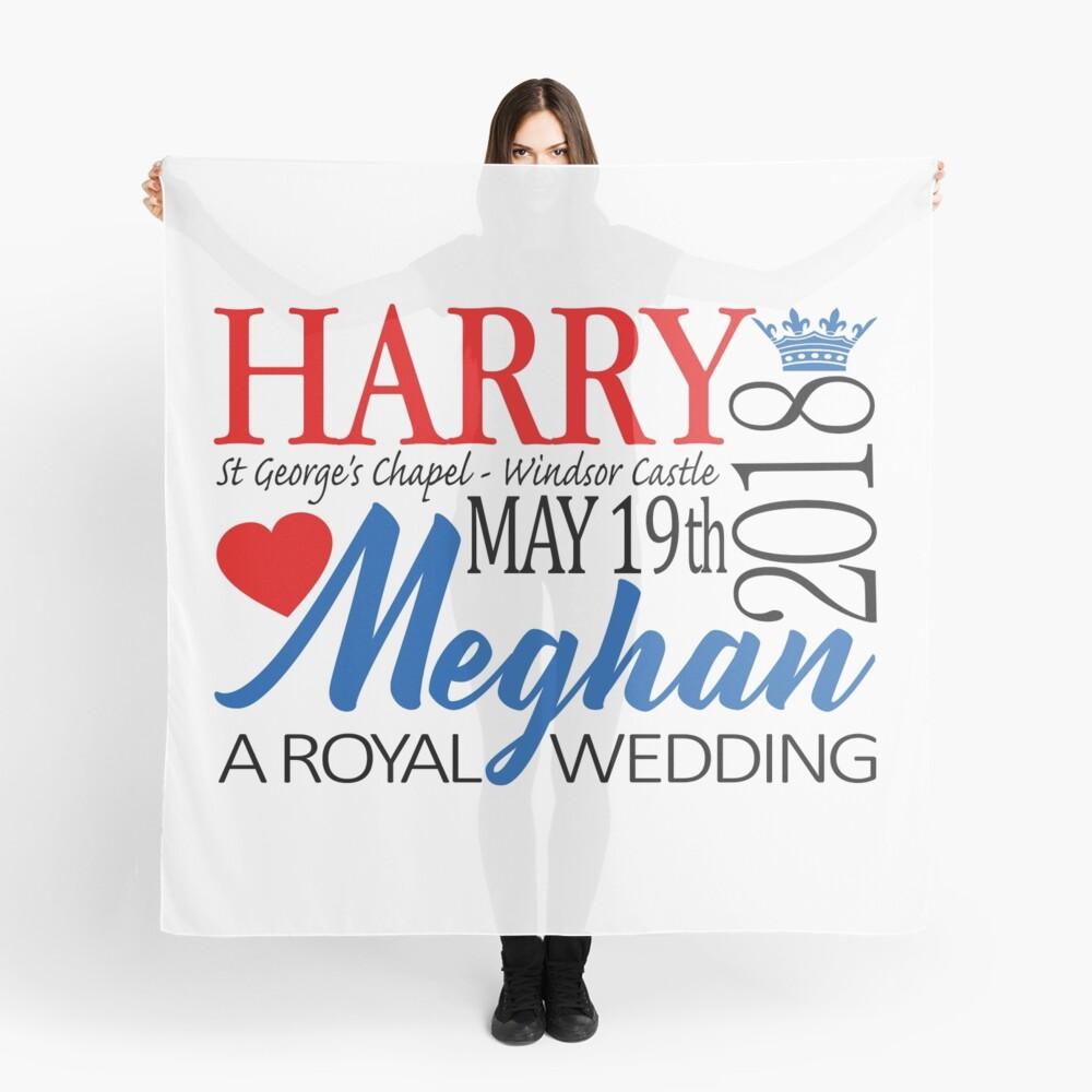 Harry & Meghan, the Royal Wedding 2018 Scarf