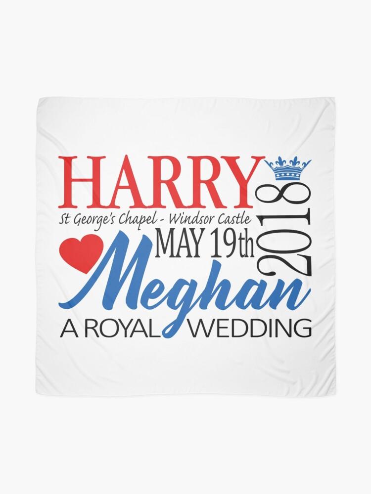 Alternate view of Harry & Meghan, the Royal Wedding 2018 Scarf