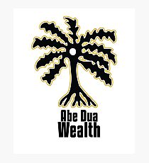 Adinkra Symbol: Ade Dua Literally: Palm tree Wealth, resourcefulness, and self-sufficiency Photographic Print