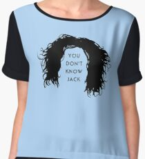 You don't know Jack Chiffon Top