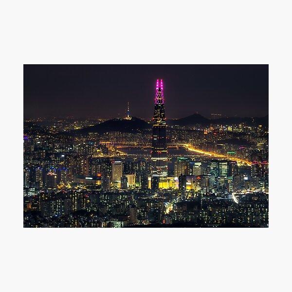 Seoul city at Night Photographic Print