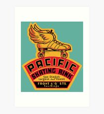 Pacific Skating Rink Art Print