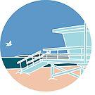LA a Day - Lifeguard Tower by jenlinhua