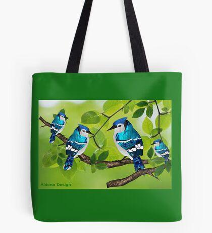 Blue jays (3755 views) Tote Bag