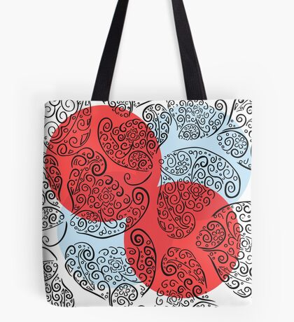 Bright Circles Red White Blue Tote Bag