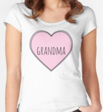 Heart Grandma Women's Fitted Scoop T-Shirt