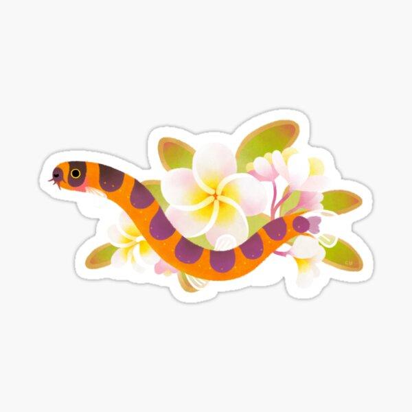 Kuhli loach and plumeria Sticker