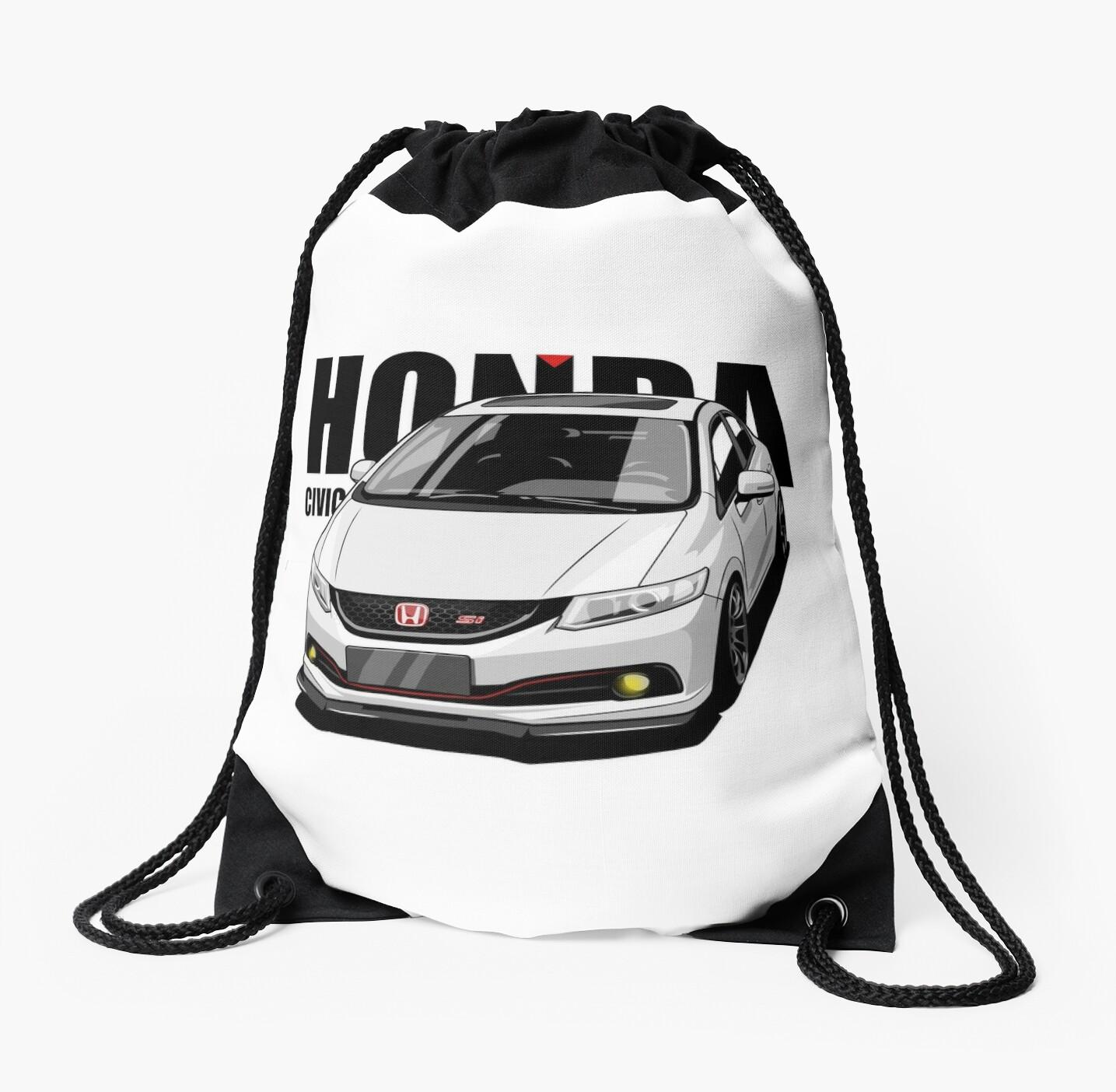 honda civic si sedan drawstring bags by xever redbubble Honda Sedan honda civic si sedan by xever