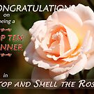 """Top Ten Winner – Stop and Smell the Roses""  Banner by Stephie Butler"