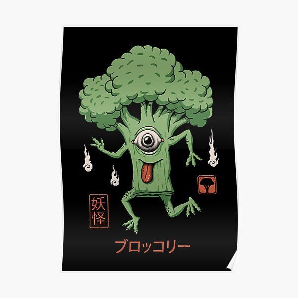 Yokai Broccoli Poster