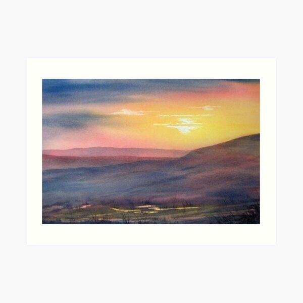 Sunset on Rosedale Head Art Print