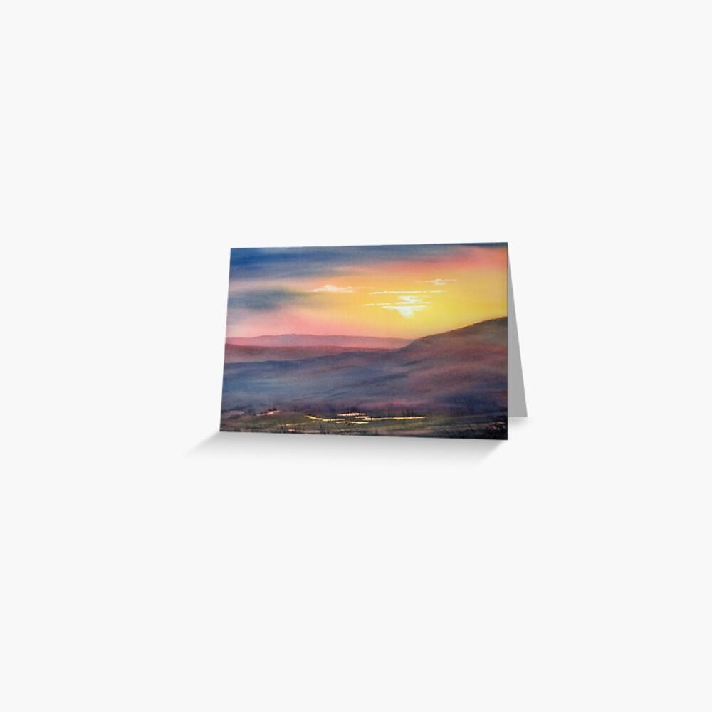 Sunset on Rosedale Head Greeting Card