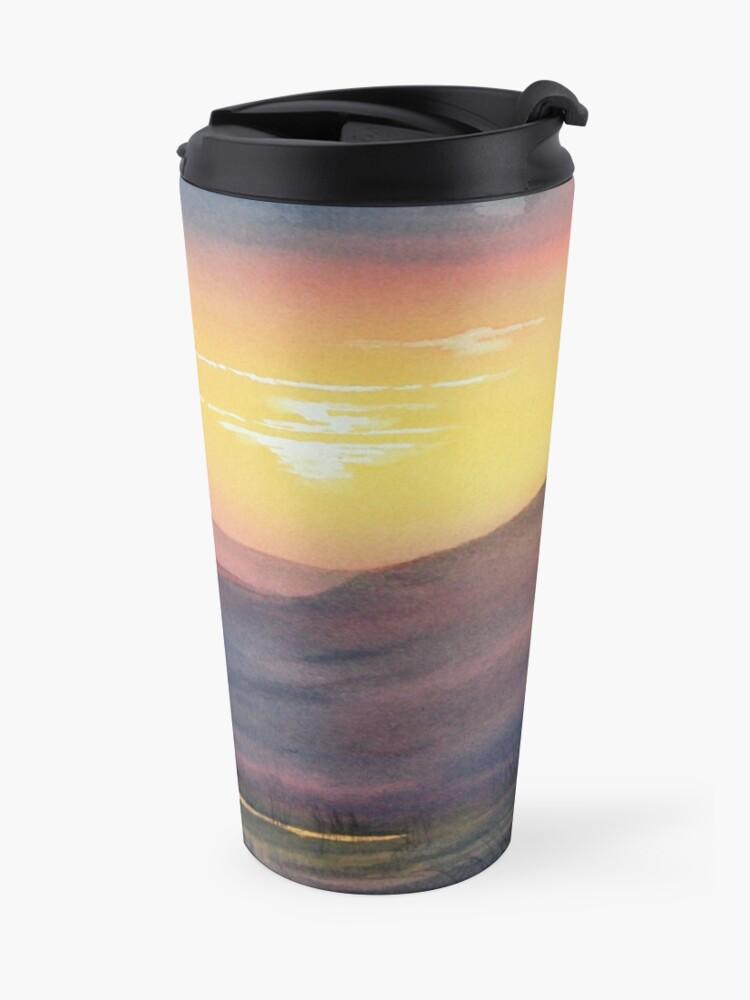 Alternate view of Sunset on Rosedale Head Travel Mug
