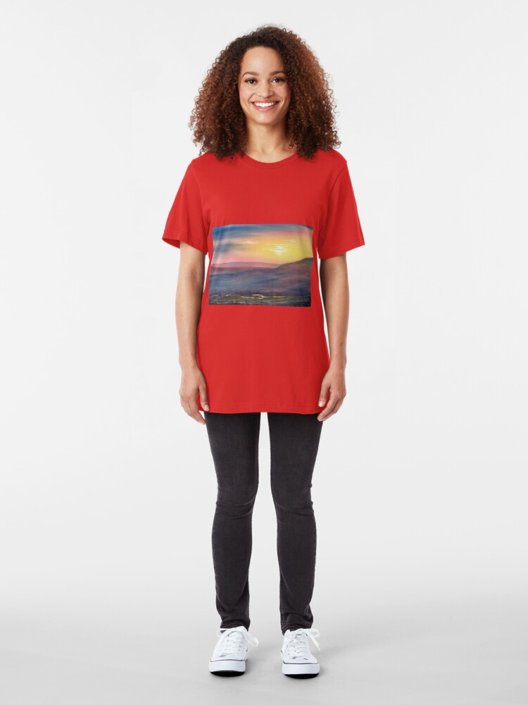 Alternate view of Sunset on Rosedale Head Slim Fit T-Shirt