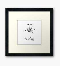 I'm from the world ~ Gifts for travels, compass  Framed Print