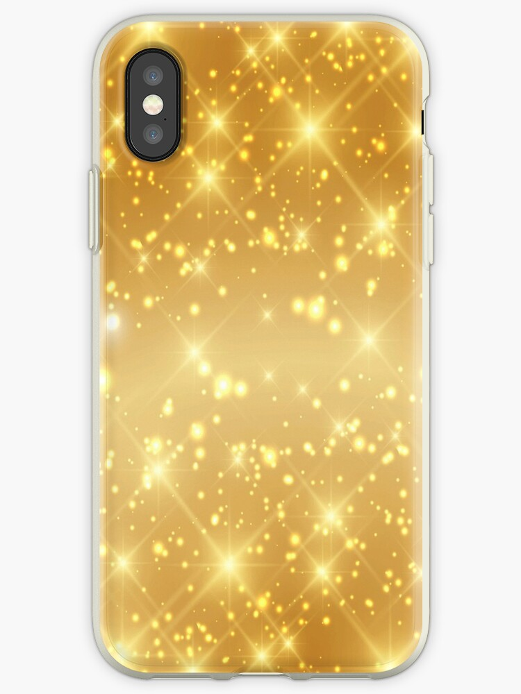 'Gold Sparkle Design' iPhone Case by digidesigns