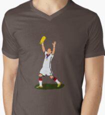 Schweinsteiger Minimalist Mens V-Neck T-Shirt