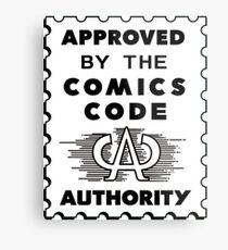 Comics Code Authority Metal Print