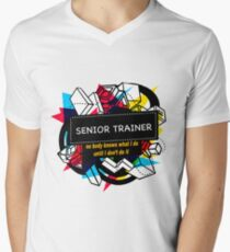 SENIOR TRAINER Men's V-Neck T-Shirt