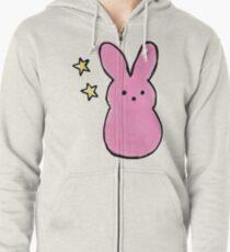 LiL Peep Bunny logo Zipped Hoodie