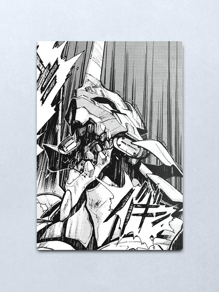 Alternate view of Evangelion Unit 01 Berserk Manga Metal Print