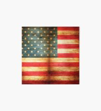 Rustic American Flag Art Board