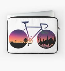 Pedaling North Laptop Sleeve