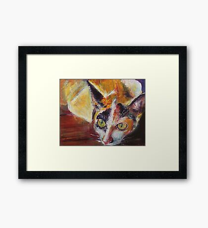 Scardey Cat Framed Print