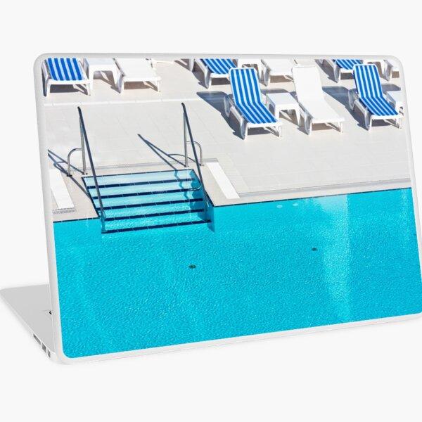 Ladder of a swimming pool Laptop Skin