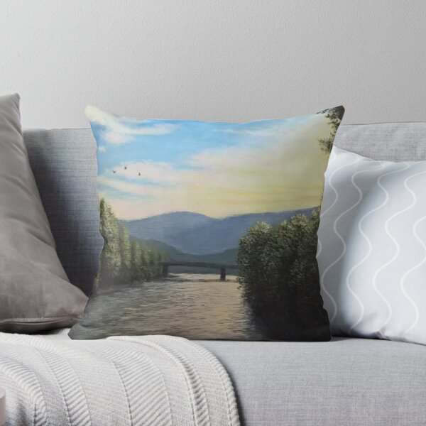 Sunset over the Isarco Throw Pillow