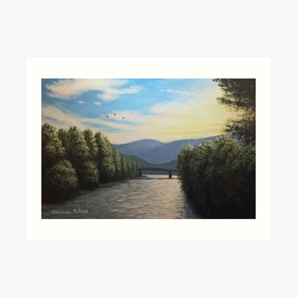 Sunset over the Isarco Art Print