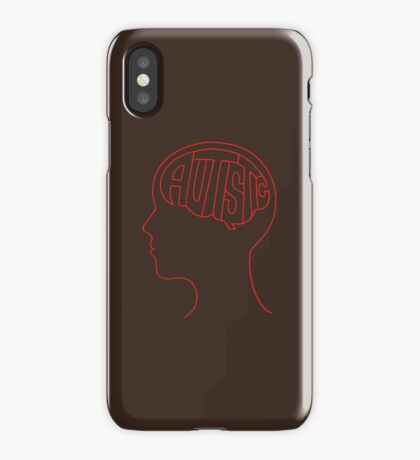 Autistic Mind  – Red iPhone Case