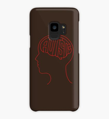 Autistic Mind  – Red Case/Skin for Samsung Galaxy