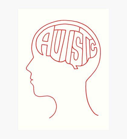 Autistic Mind  – Red Art Print