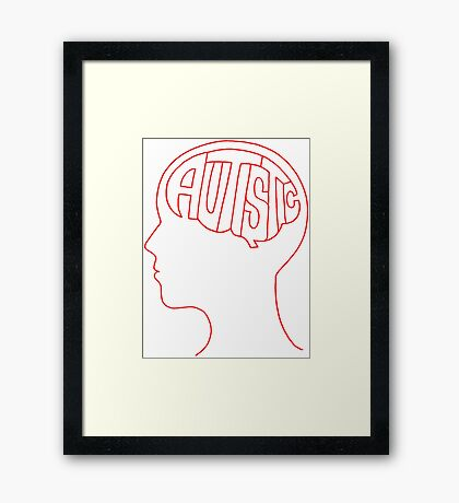 Autistic Mind  – Red Framed Print