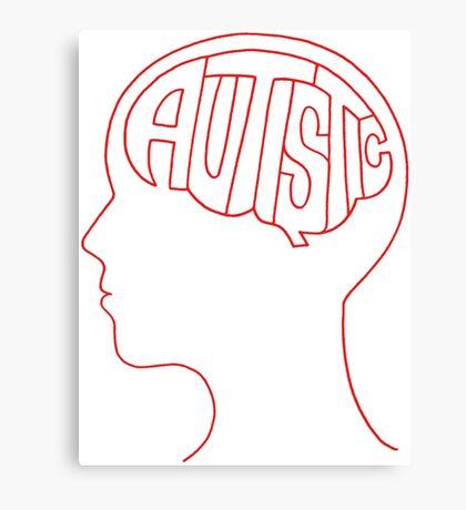 Autistic Mind  – Red Canvas Print