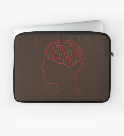 Autistic Mind  – Red Laptop Sleeve