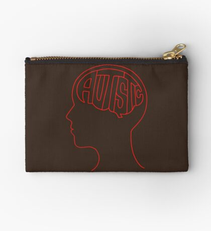 Autistic Mind  – Red Studio Pouch