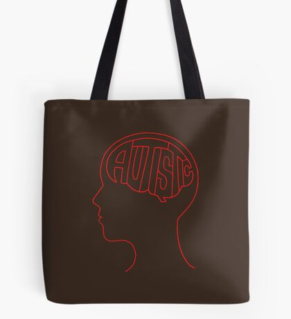 Autistic Mind  – Red Tote Bag
