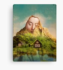 Eva's fjord Canvas Print