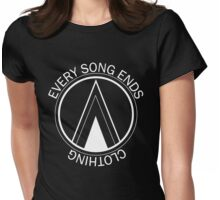 Every Song Ends Clothing Logo (White) Womens Fitted T-Shirt