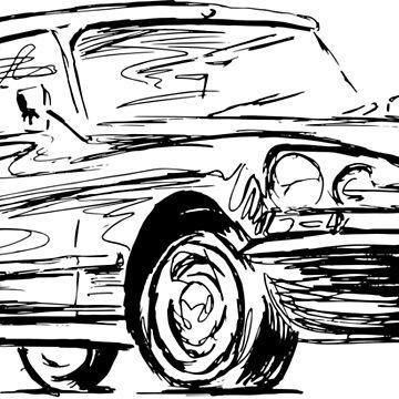 Ford Sierra Cosworth Classic Saloon Sports Car Sticker By Mudzco
