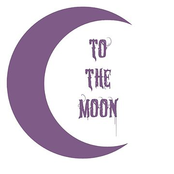 To the Moon (Purple) by WitchyTendency
