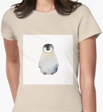Cute animal No.2 Shy Penguin Womens Fitted T-Shirt