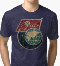 CCCP Flag Satellite Tri-blend T-Shirt
